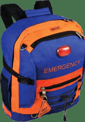 emergency kit blue and orange