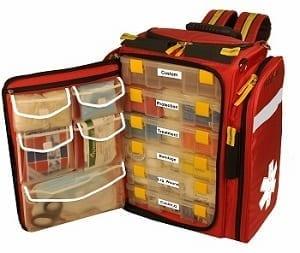 MobileAid Hi-Visibility XL 100 EMS Medical Responder Backpack Kit