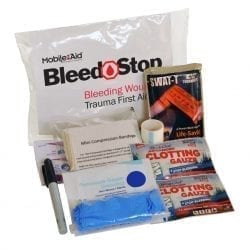 BleedSTOP Single 100 Compact Bleeding Wound Trauma First Aid Kit