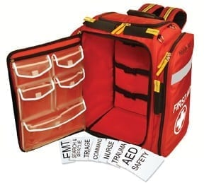 First Aid Backpack with Placards