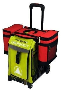 Medical Saddle Bag on Emergency Cart 210