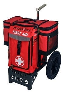 Medical Saddle Bags on AT First Aid Cart