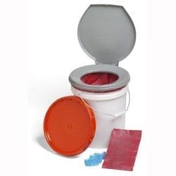 LifeSecure Store-A-Potty 72-Hour Emergency Toilet Kit & Storage Bucket