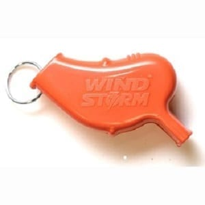 LifeSECURE Wind-Storm - World's Loudest Compact Self-Defense/Rescue Signal Whistle - With Lanyard