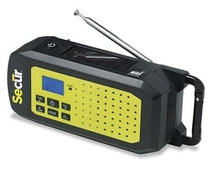SECUR Dynamo/Solar Emergency NOAA Radio and Flashlight