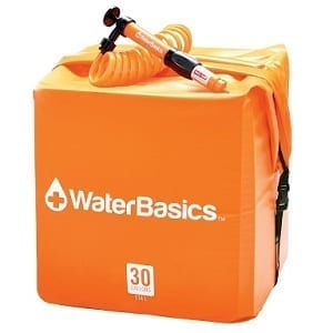 WaterBasics 30 Gallon Disaster & Emergency Water Storage Cube with Filter