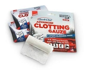 Quick Clot Clotting Gauze