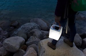 LuminAID PackLite Max solar inflatable lantern lake