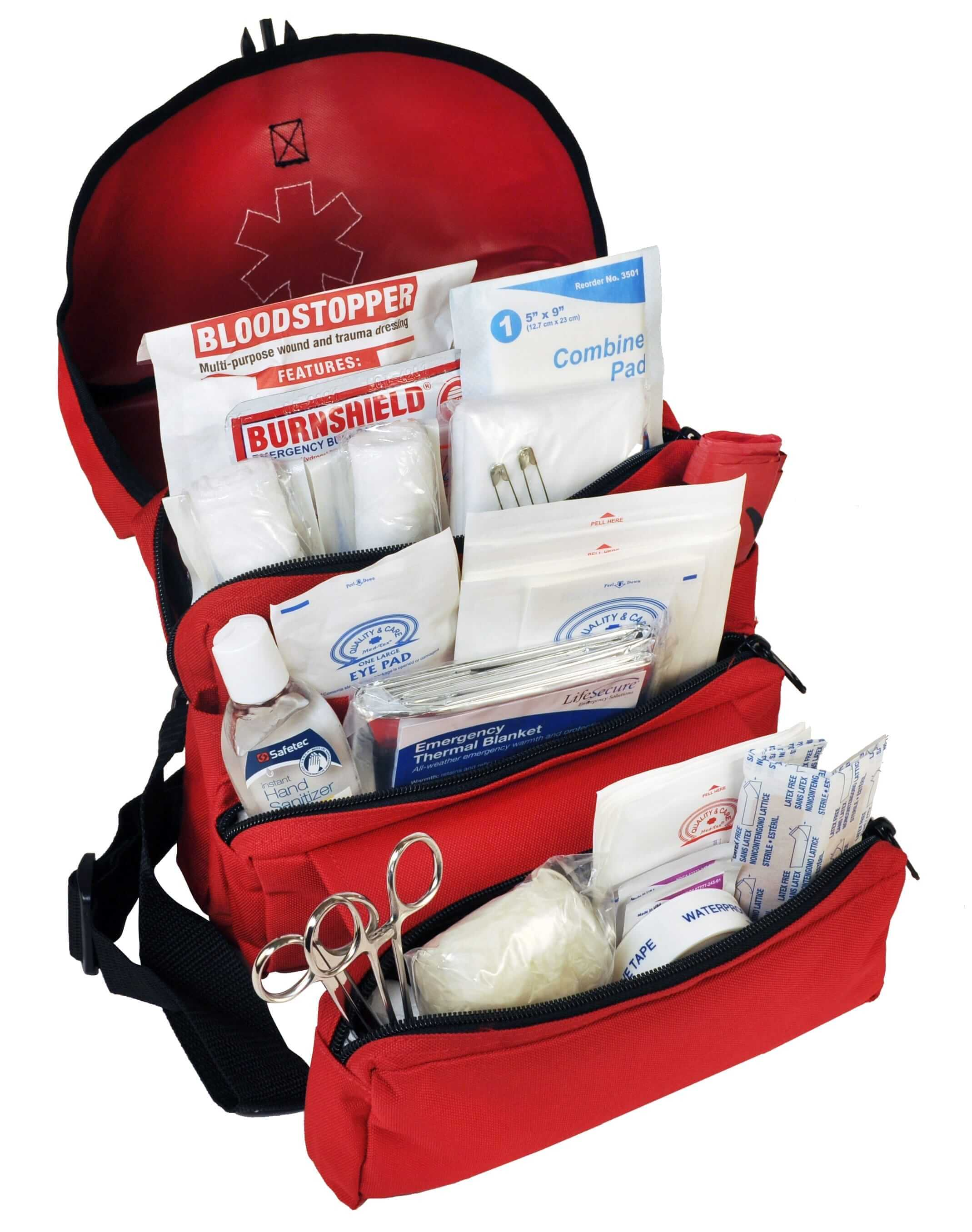 MobileAid SchoolGuard Grab-N-Go Trauma First Aid Kit (37120)