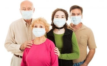 people with safety mask